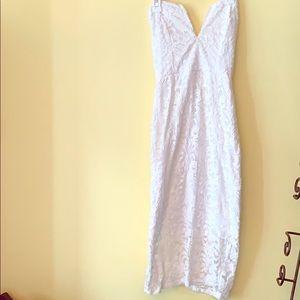 White Lacey stretch dress
